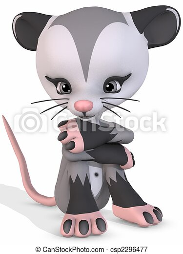 possum in a tree clip art