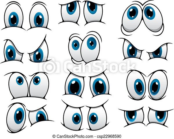 Funny cartoon eyes set - csp22968590