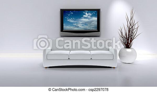 sofa in a contemporary interior - csp2297078