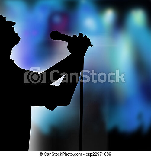 Singer on the stage