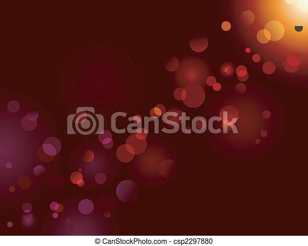 Magic sparkle, light dots; vector bokeh effect - csp2297880