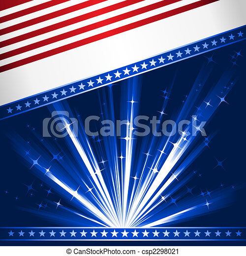 Stylised USA flag - csp2298021