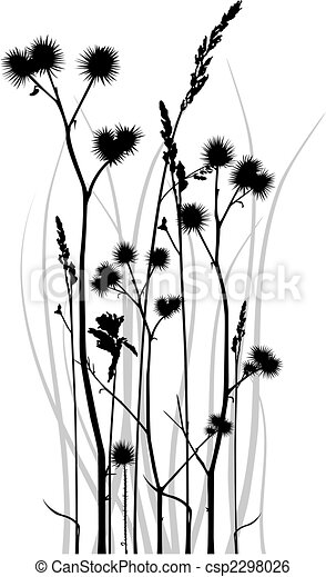 Grass silhouette - csp2298026