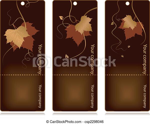 Price, sales tags on dark background - csp2298046