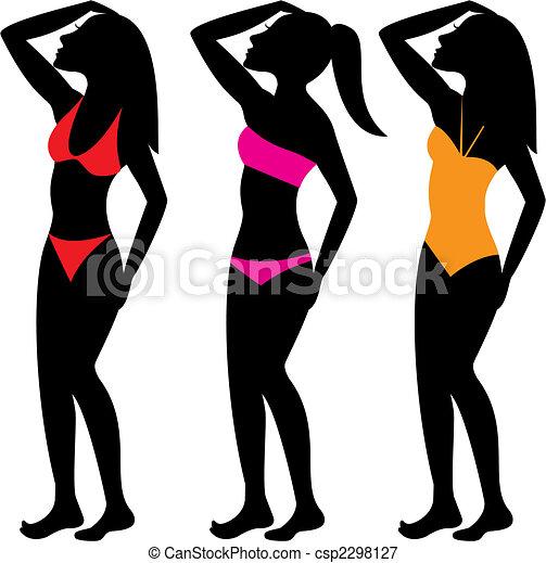 Swimsuit Silhouettes 1 - csp2298127