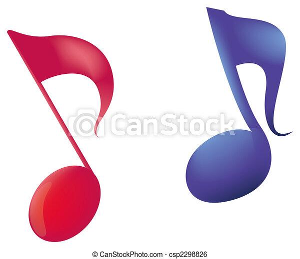 music notes - csp2298826