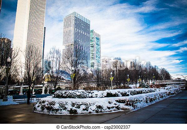 Winter In Chicago - csp23002337