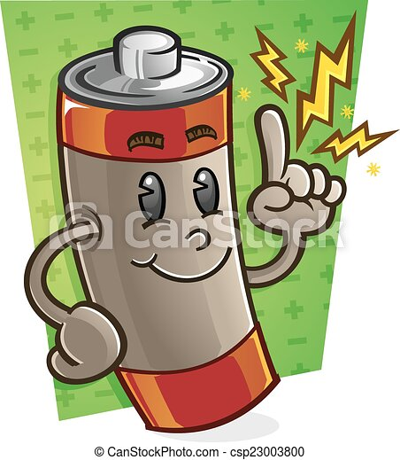 Battery Cartoon Character - csp23003800