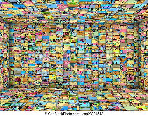 Tekening van 3d tegel moza ek kamer veelvoudig helder kleur csp23004542 zoek naar clip - Kamer van mozaiekwater ...