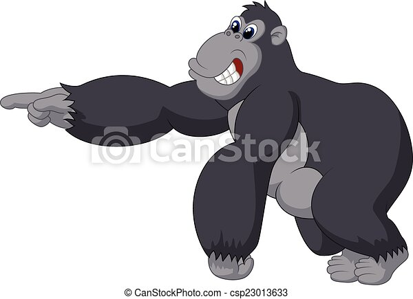 Vectors of kingkong - angry kingkong cartoon of vector ...