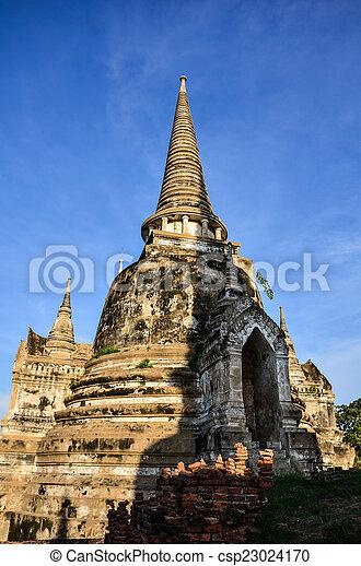 Chaiwatthanaram temple in Ayutthaya Historical Park , - csp23024170
