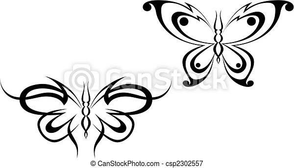 Butterfly tattoo - csp2302557