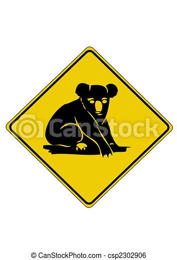 Koala road sign from australia - csp2302906