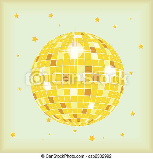 Retro Style Discoball - csp2302992