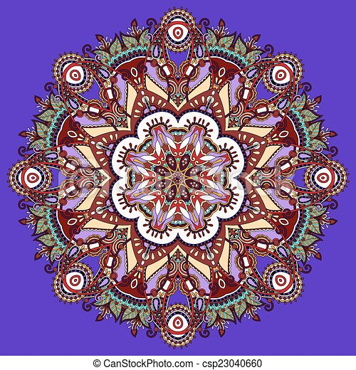 clip art vecteur de couleur mandala violet violet couleur mandala cercle csp23040660. Black Bedroom Furniture Sets. Home Design Ideas