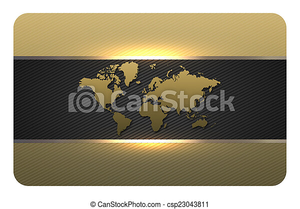 Gold business card template.