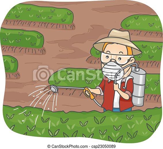 Pesticides On Plants Clip Art