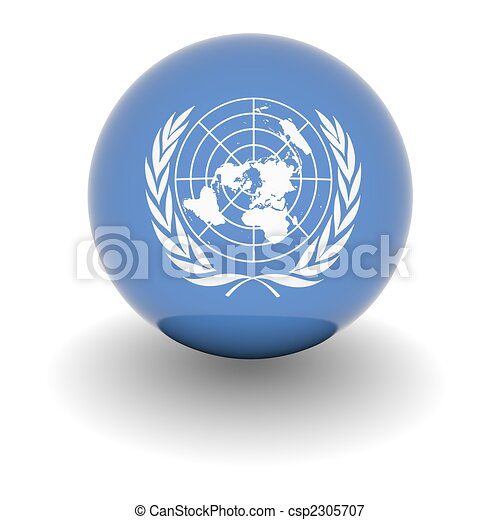High resolution ball with flag of the United Nations - csp2305707