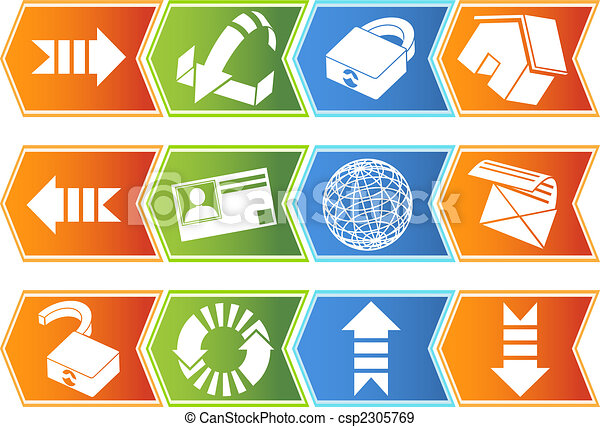 Browser Icon Set Chevron - csp2305769