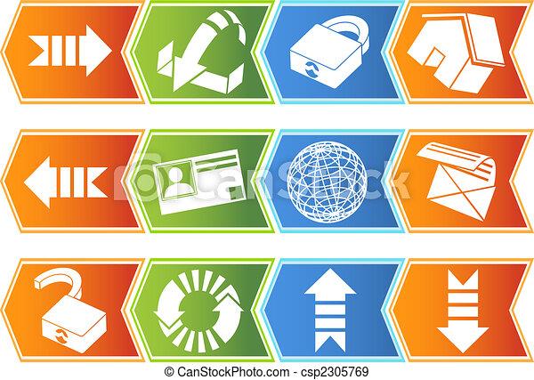Browser Icon Set Chevron - csp2305769