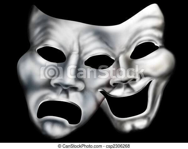 Merging theater masks - csp2306268
