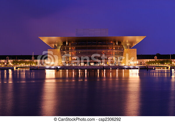 Opera house of Copengagen - csp2306292