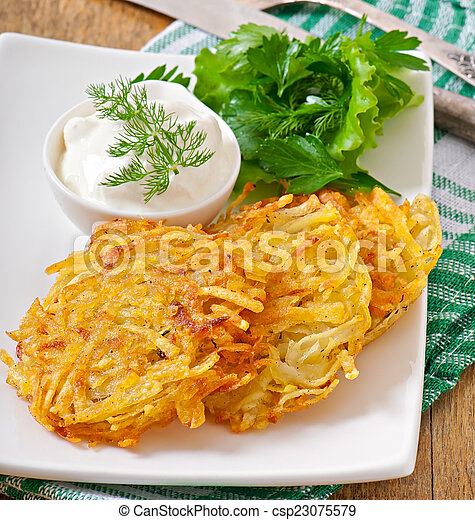 Fragrant potato pancakes