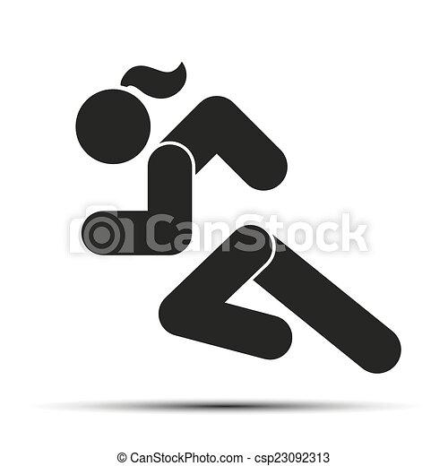 Running Logo Images Running Woman Logo Running