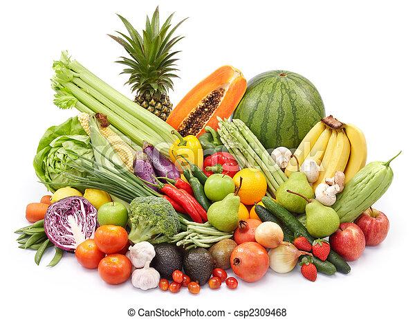 蔬菜, 水果 - csp2309468