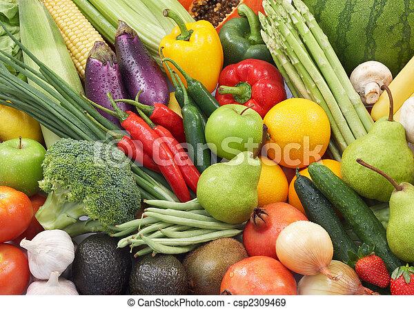 蔬菜, 水果 - csp2309469