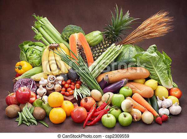 fresco, legumes, frutas - csp2309559
