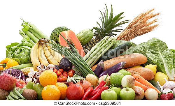 fresco, legumes, frutas - csp2309564