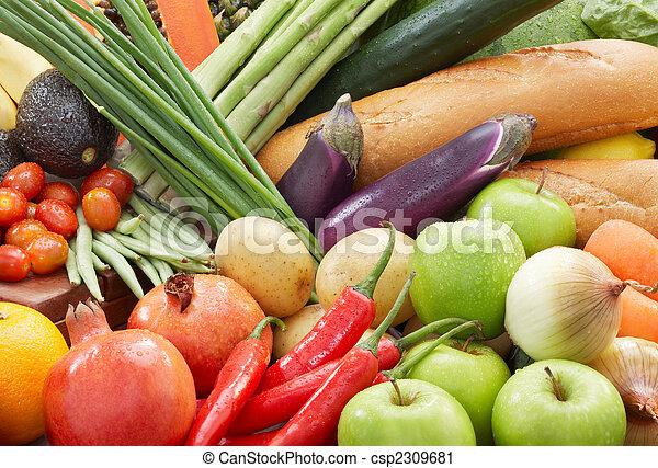 saudável, alimentos, fundo - csp2309681