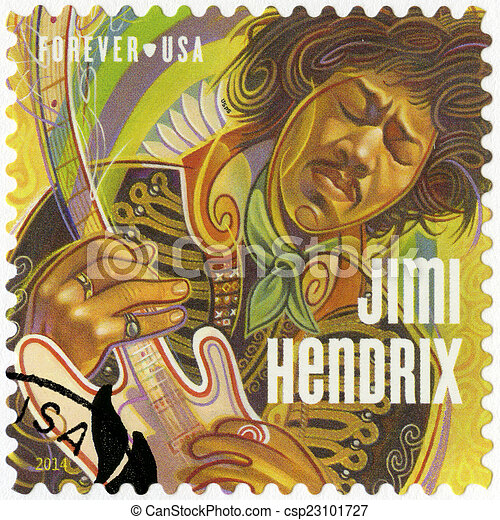UNITED STATES OF AMERICA - 2014: shows Jimi Hendrix - csp23101727