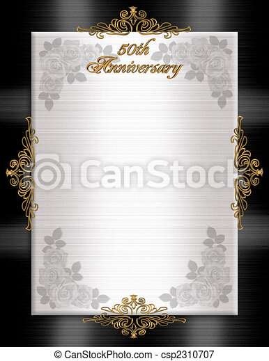 50th Anniversary Formal Invitation - csp2310707