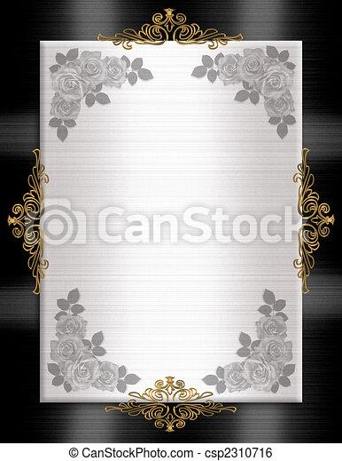 Formal Invitation template black white - csp2310716