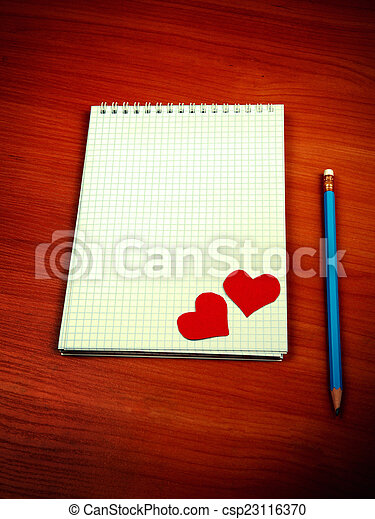 Writing Pad on the Table