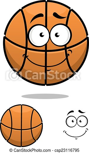EPS Vectors of Basketball ball character with a cute face ...