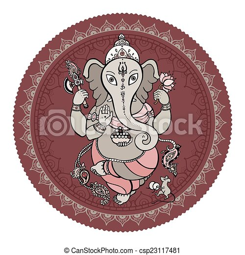 Ganesha Hand drawn illustration. - csp23117481