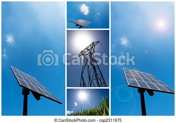 Solar energy collage - csp2311975