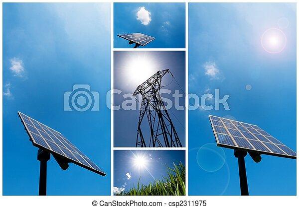 Solar energy collage - csp2311975