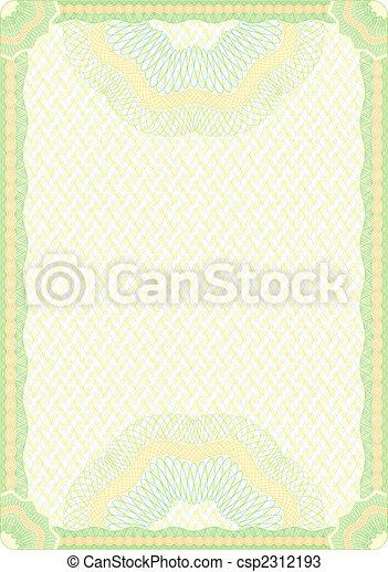 Engraved diploma - csp2312193