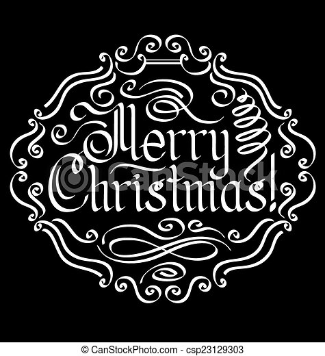 Merry Christmas text - csp23129303