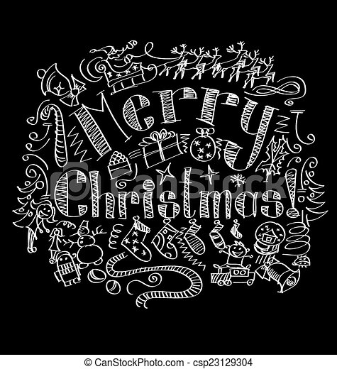 Merry Christmas text - csp23129304