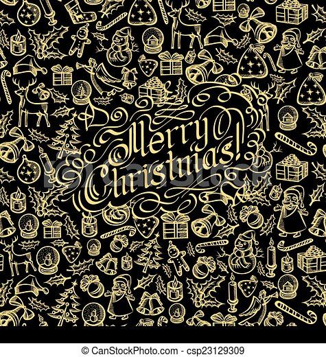 Merry Christmas text - csp23129309