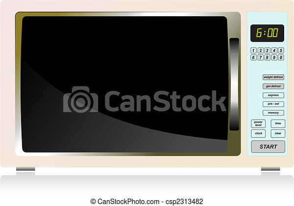 Kitchen equipment. Microwave oven. Vector illustration - csp2313482