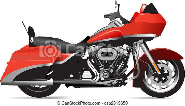 Sketch of modern motorcycle. Vector illustration - csp2313650