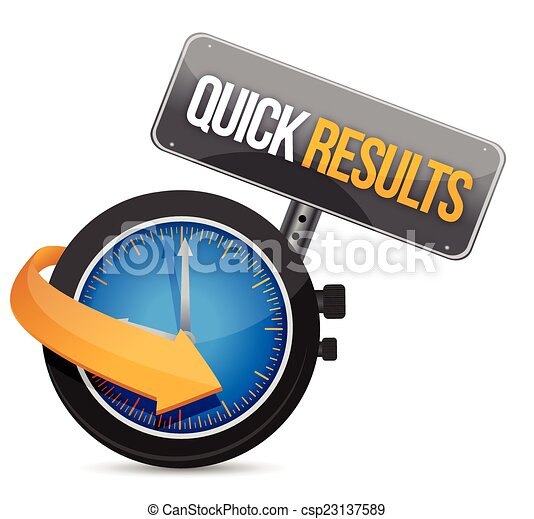 quick results time watch illustration - csp23137589
