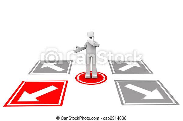 Making decision concept - csp2314036