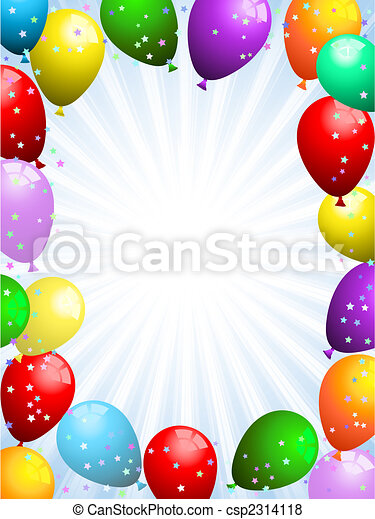 Balloons and confetti - csp2314118